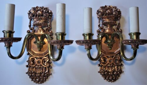 ⭐  E F Caldwell Signed Sconces Circa 1910. Restored & Rewired! Offers Welcome!