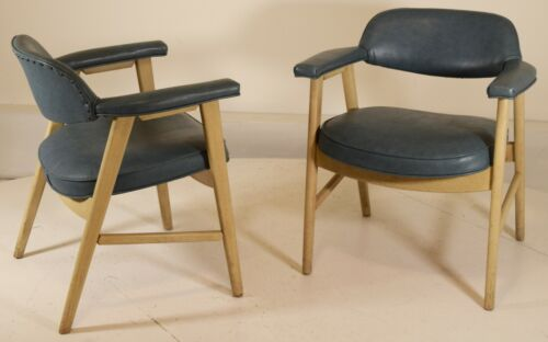 Cerused Oak Finish Chairs by Paoli vintage mid century office reception