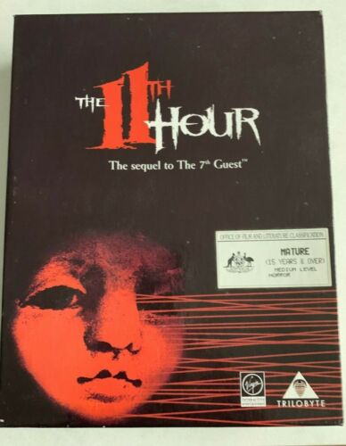 THE 11TH HOUR CD-ROM PC EX+ Condition 1995 Big Box Game Sequel To The 7th Guest