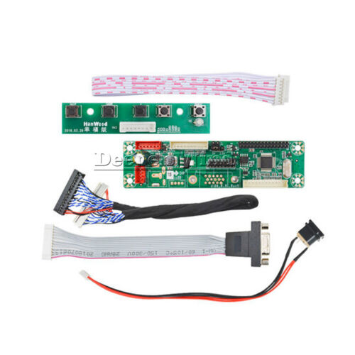 MT6820-MD V2.0 VGA Video Channel Driver Board With LVDS VGA Cable 16CM/30CM