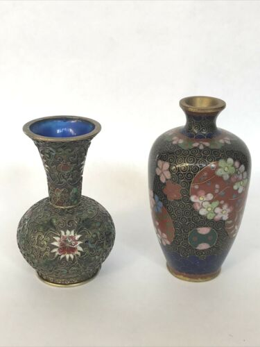 Two Small Viintage Cloisonne vases