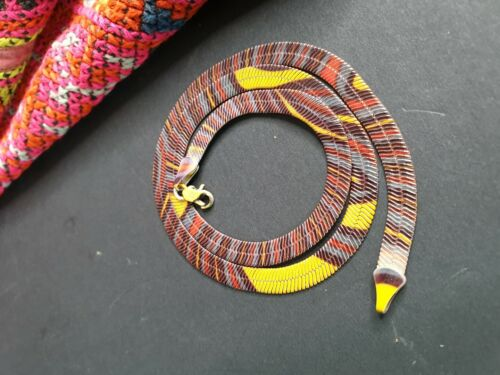Old Coloured Choker Necklace in Red, Yellow & Black …beautiful collection and ac