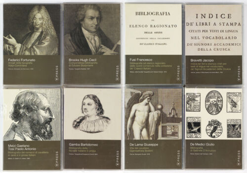 ITALIAN old and rare books bibliographies reproductions in 8 CD-ROMs