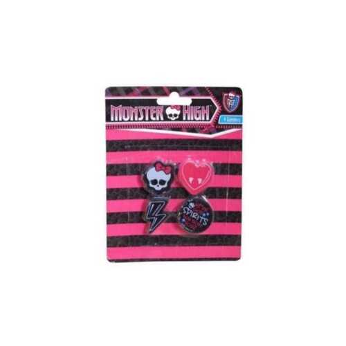 Set de 4 gommes MONSTER HIGH NEUF Fourniture Scolaire