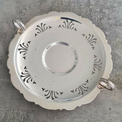 Vintage Silver Plated EPNS A1 Serving Dish with Ball Feet Ring Handles 1930s