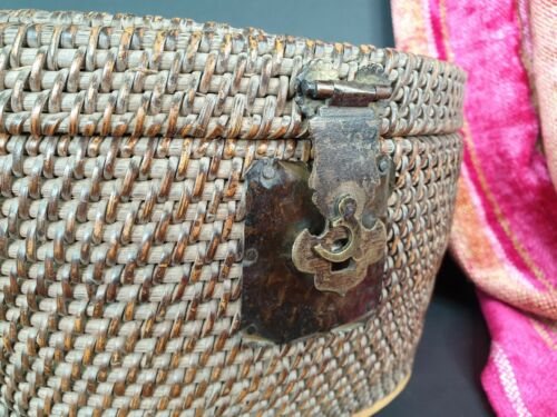 Old Asian Woven Sewing Basket …beautiful collection item