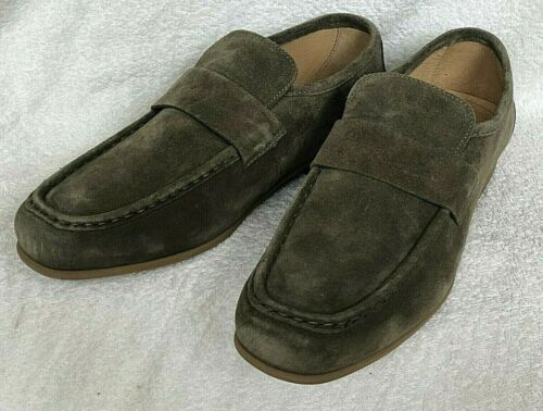 SCHUH - SLIP-ON LOAFERS - KHAKI SUEDE LEATHER  size 10 - UNWORN - FAST REC' POST