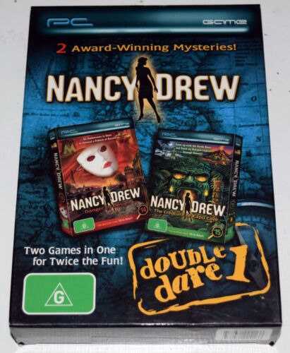 Nancy Drew Double Dare Danger by Design/The Creature of Kapu Cave PC Game NEW
