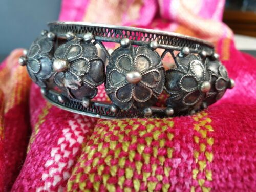 Old Tibetan Handmade Silver Bracelet  …beautiful collection and accent piece