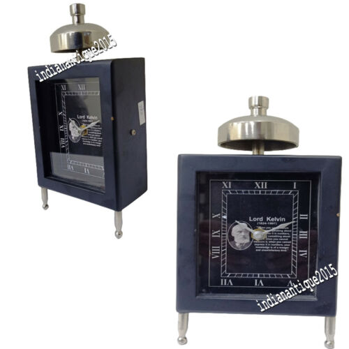 Nautical Wooden Table Clock Vintage Style Black Color Clock Gift Home Decor Item