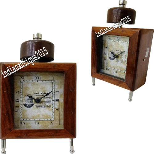 """Nautical Vintage style wooden table 6"""" Clock desk Wooden decorative watch gift"""