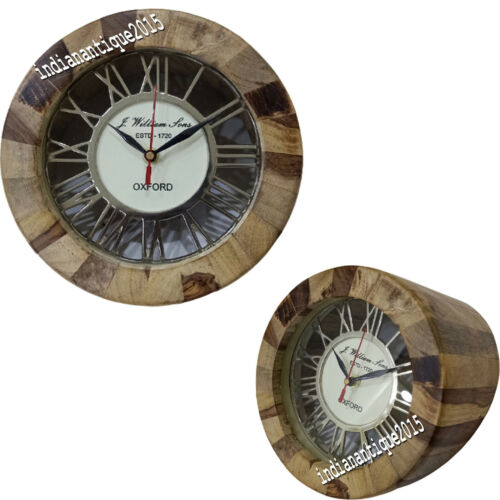 Nautical Wooden Natural table Clock Wooden Vintage style decorative watch Item