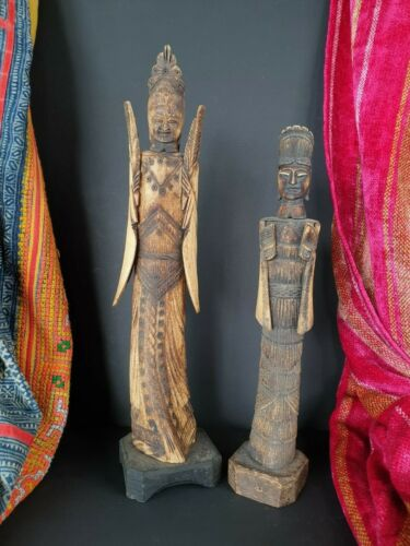 Old Chinese Carved Figures Male & Female …beautiful collection & display set