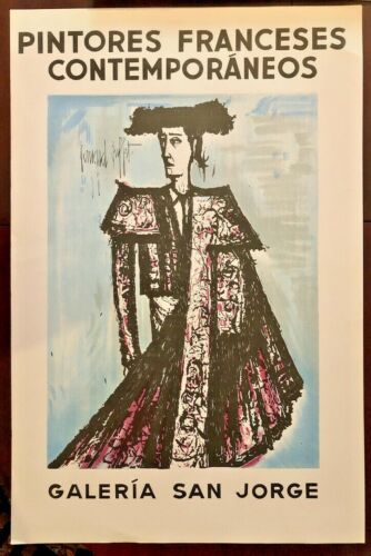 Bernard Buffet - Pintores Franceses Exhibition Poster, Plate Signed
