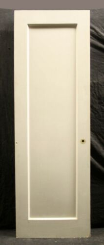 """9avail 24""""x80"""" Antique Vintage Old SOLID Wood Wooden Interior Doors Single Panel"""