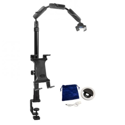 Arkon Remarkable Creators CLAMP Base 3-in-1 Phone and Tablet Stand with Ring Lig