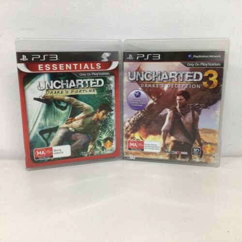 Uncharted: Drake's Fortune & Uncharted 3: Drakes Deception PS3 Games #323