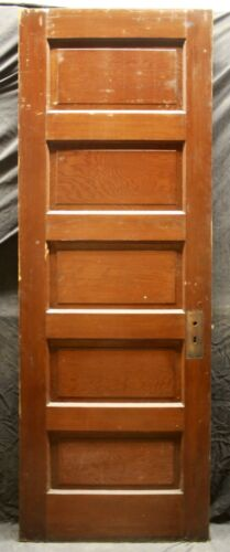 """4 avail 28x79.5"""" Antique Vintage Old Wooden Interior Closet Pantry Doors 5 Panel"""
