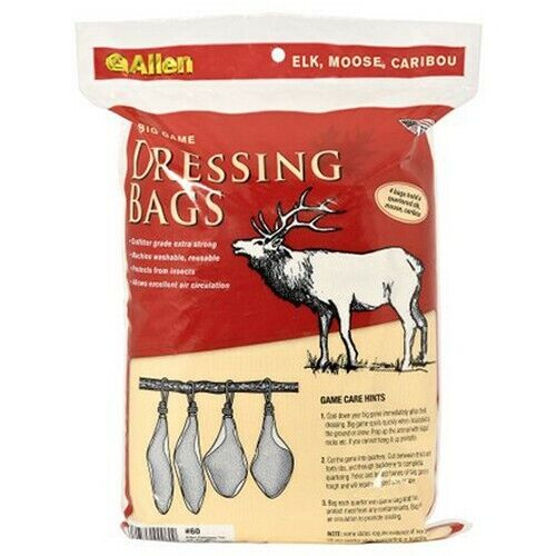 """Allen 60 Big Game Hunting Washable/Reuseable Quartering Bags 4 Pack 12"""" x 48"""""""