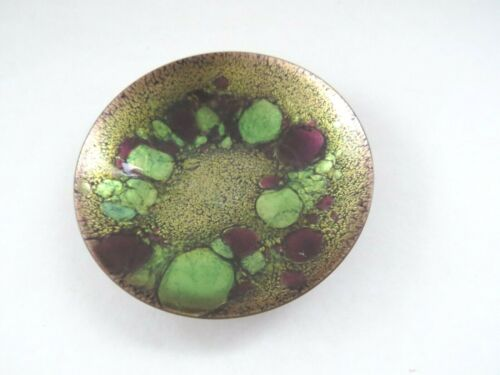 Mid century modern abstract A. Gagnon Signed Enamel Dish Quebec