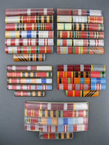 Set VETERAN WWII MEDALS RIBBONS BAR Military Soviet Union Russian Army USSR