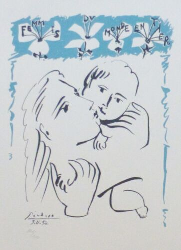 PABLO PICASSO FEMMES DU MONDE ENTIER SIGNED HAND NUMBERED 861/1000 LITHOGRAPH