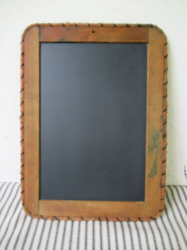 """Antique Slate, 11""""x 8-1/4"""" Wood Wrapped Frame Chalkboard, Schoolhouse Toy Tablet"""