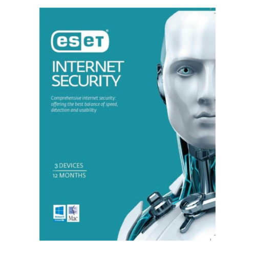 ESET Internet Security for 3 Devices 1 Year - Physical Product Key Delivery HOT