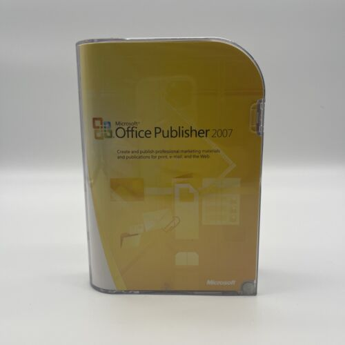 Microsoft Publisher 2007 CD Edition With Key