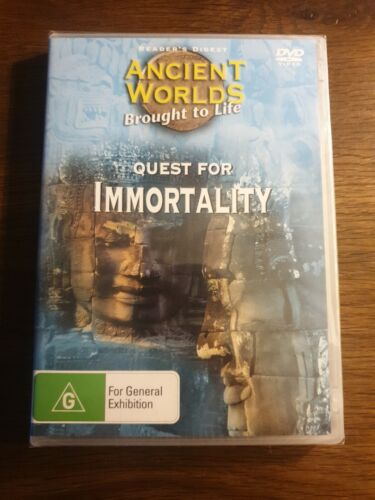 Reader's Digest DVD: Ancient Worlds Brought to Life; Quest For Immortality. RARE