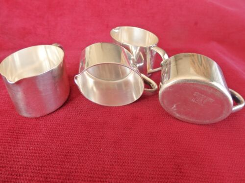 4 x Vintage tiny WMF milk or cream jugs 0.02L size. with pouring lip.