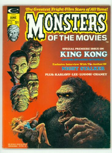 MONSTERS OF THE MOVIES #1 VF/NM 9.0 KING KONG BARRY SMITH MAGAZINE 1974