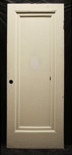 """2avail 32x79.5x1.75"""" Antique Vintage Old Wood Wooden Interior Doors Single Panel"""