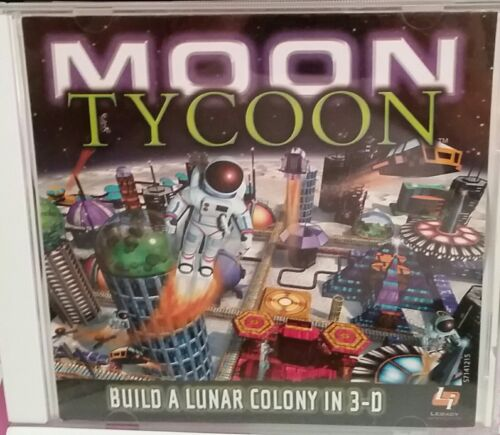 PC Game Moon Tycoon (build a lunar colony in 3D) 2001 with instructions booklet