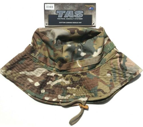 TAS MULTICAM WIDE BRIM GIGGLE HAT SMALL 55 - 56CM 100% COTTON DOUBLE BRIM ARMYModern, Current - 36066