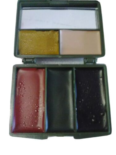 ARMY CAMOUFLAGE 5 COLOUR FACE PAINT WITH MIRROR WATERPROOFSurplus - 36075