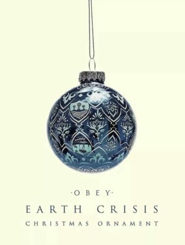 Obey Giant Shepard Fairey Christmas Ornament Globe Art Earth Crisis Limited Mint