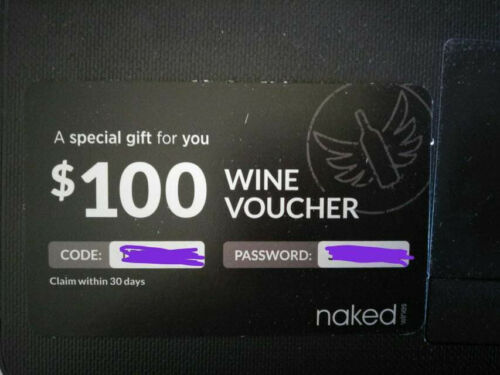 NAKED WINES $100 VOUCHER GIFT CARD