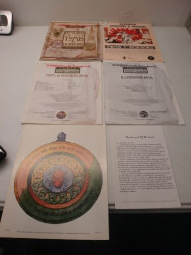 ADVANCED DUNGEONS AND DRAGONS RETURN TO THE TOMB OF HORRORS BOX SET 1ST PRINT