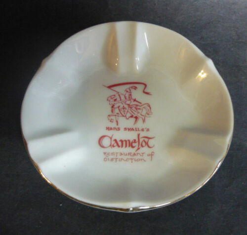 Vintage HANS SKALLE'S CAMELOT RESTAURANT ASHTRAY Retro