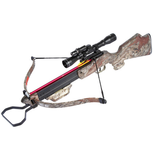 150 lb Camouflage Hunting Crossbow Bow w/ 4x20 Scope + 7 Bolts / Arrows 180 80Crossbows - 33972