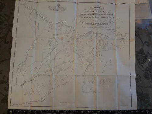 1790 Mohawk Susquehanna River Broome Co New York Pennsylvania 1849 Map