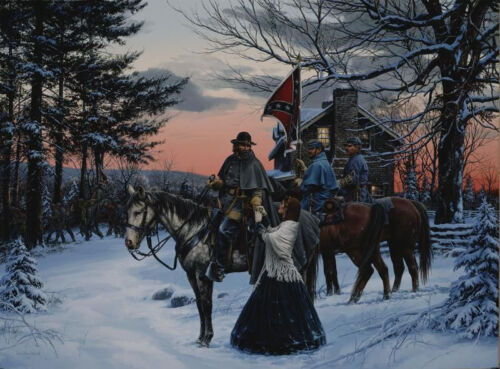 """""""The Parting"""" John Paul Strain Civil War Canvas - General A.P. Hill and His Wife"""
