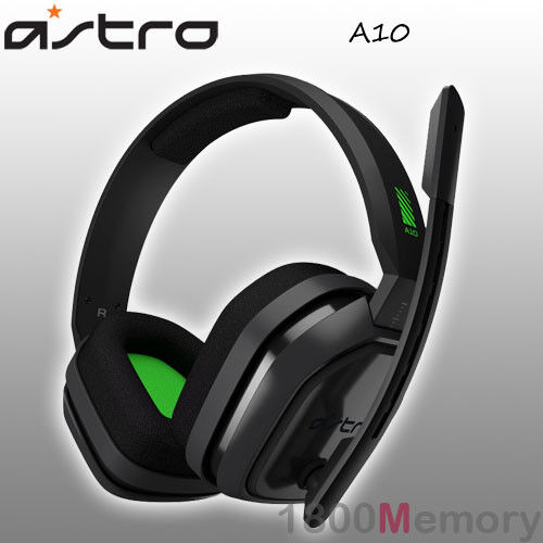Astro A10 Wired Gaming Headset Headphones for PS4 Pro Xbox One PC Mac Green Grey