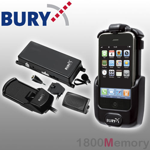 Bury S8 System 8 Bluetooth Hands-Free Cradle Car Kit for Apple iPhone 3G 3GS