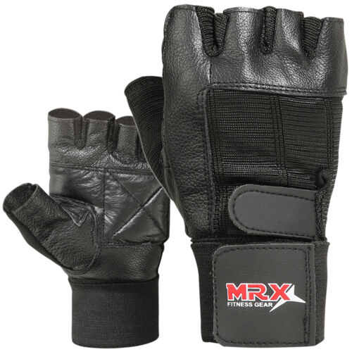 Weight Lifting Gloves Gym Training Fitness Bodybuilding Exercise MRX Black New
