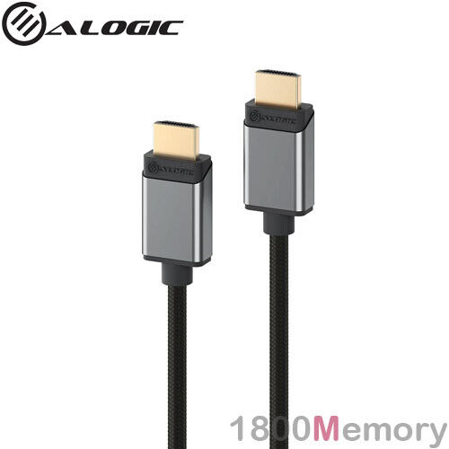 Alogic Super Ultra 8K HDMI Male to HDMI Male v2.1 2m Cable HDR VRR Space Grey
