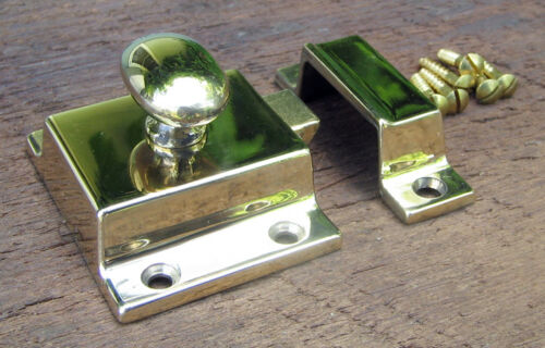 Reproduction Large Solid Brass Cabinet Latch (Polished Brass Lacquer Free)