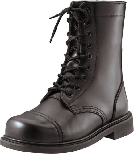 Black Military Leather Tactical STEEL TOE Combat Boots