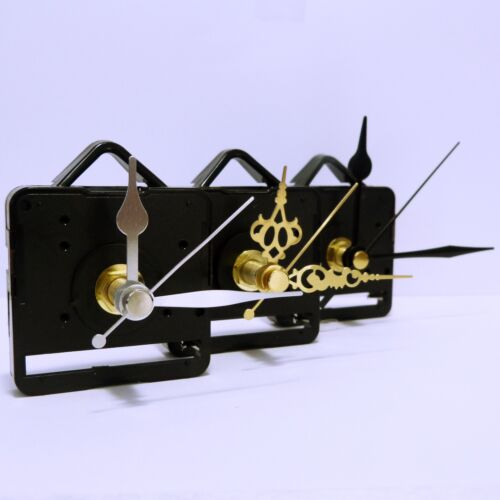 Quartz clock movement sweep mechanism (non ticking) with hands and battery <br/> 3 shaft lengths and a huge choice of hands, UK seller.